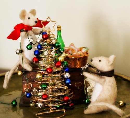 Marcus and Tilly finished the last of their Christmas preparations. by chloe & ivan