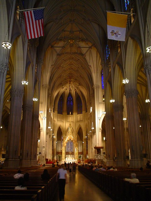 interior of st. patrick's cathedral in new york city usa