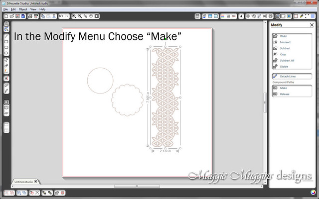 Make Silhouette Print and Cut Step 4