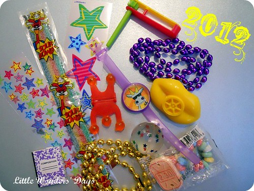 New Year's Surprise Ball Objects (Photo from Little Wonders' Days)