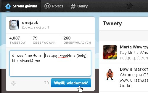 Tweet4me2