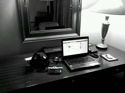Ny work desk in a hotel. We will celebrate new year here with my family by popazrael