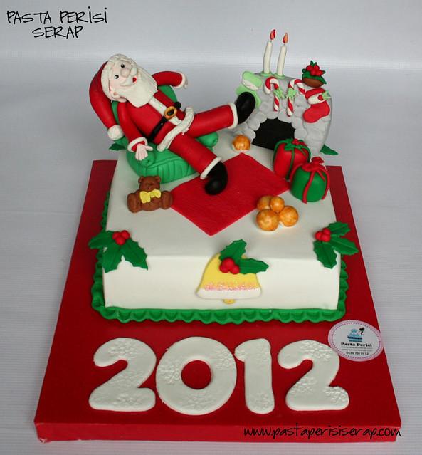 2012 noel baba pastası