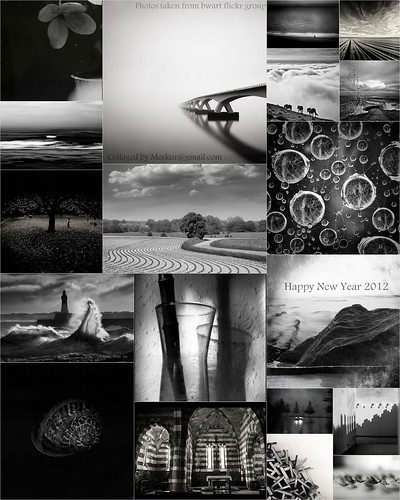 Happy 2012 - Black and white art from bwart group by Merkur*