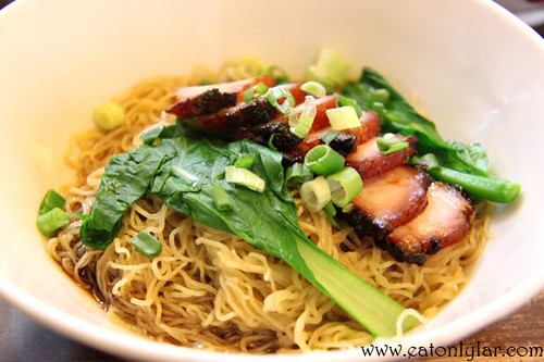 BBQ Sliced Pork Bamboo Noodles, Nippy Noodle Restaurant