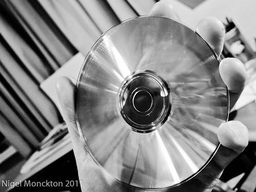 1000/690: 02 Jan 2012: Self-portrait in a CD by nmonckton