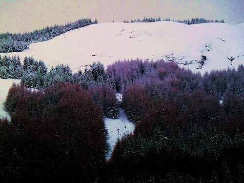 Snow covered Tyndrum Landscape