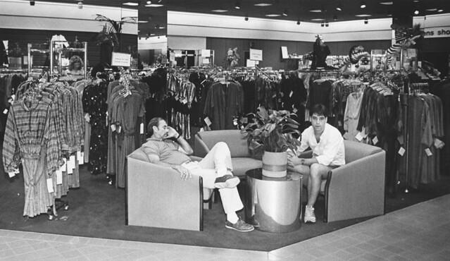 Nordstrom Glendale Galleria interior 1984