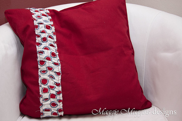 Ruched Ruffle Pillow