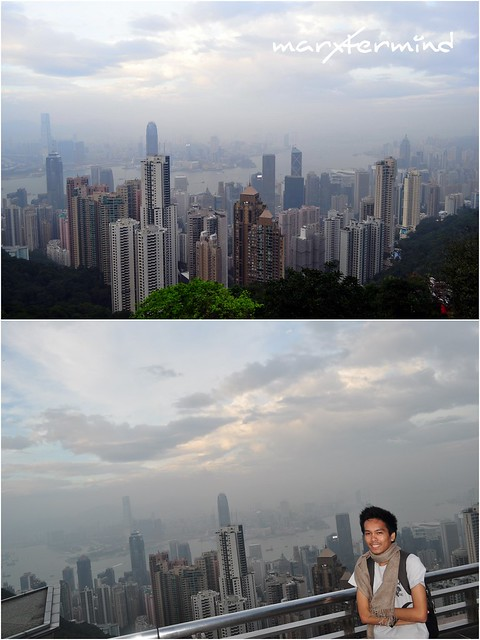 The Peak Gallery and View of Hong Kong Skyscrapers