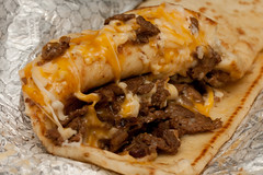 pulled pork(0.0), meat(0.0), produce(0.0), burrito(0.0), food(1.0), dish(1.0), cheesesteak(1.0), cuisine(1.0),