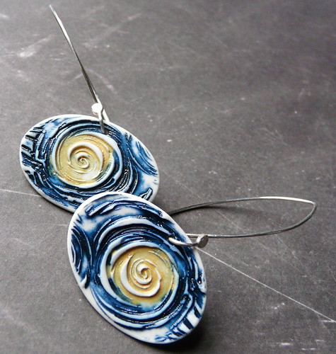 Starry Night Porcelain Earrings