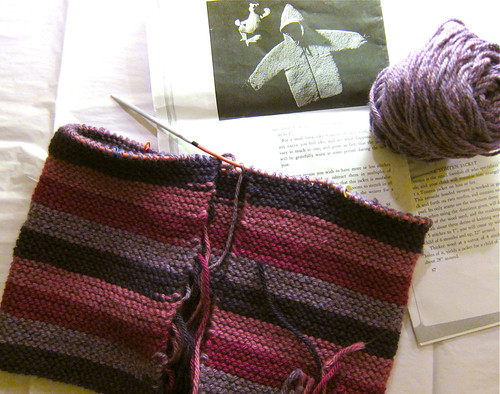 Striped Tomten Jacket progress