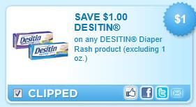 Desitin Diaper Rash Product (excluding 1 Oz.) Coupon