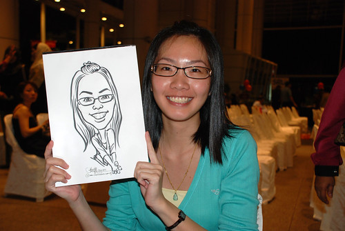 caricature live sketching for kidsREAD Volunteer Appreciation Day 2011 - 18