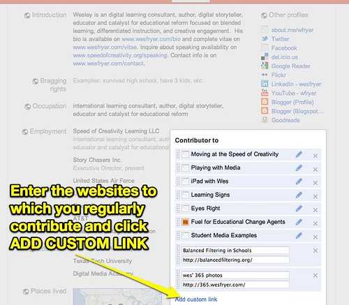 Google+ Contributor Links