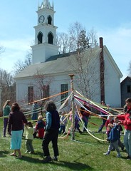 Maypole in the church yard