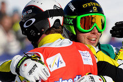 Chris Del Bosco and Dave Duncan in Alpe d'Huez World Cup ski cross.