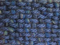 close-up of the weave