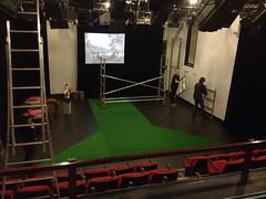 de opbouw van het podium