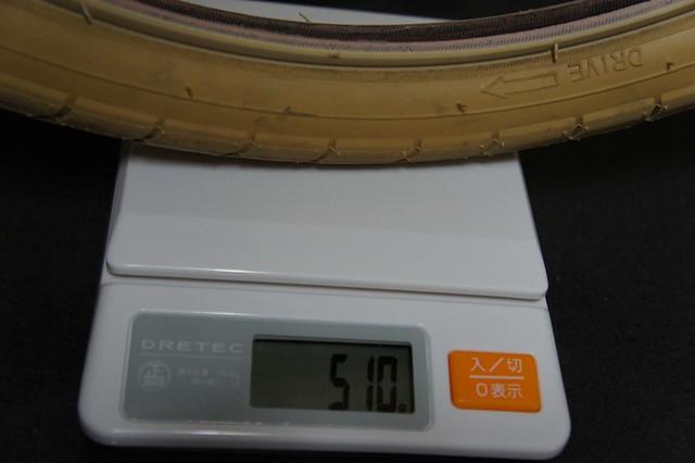 Bruno Road20の標準タイヤ(KENDA)の重量