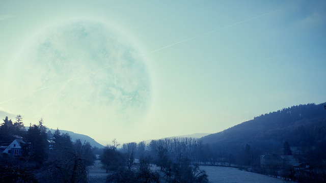 Planet Melancholia this morning
