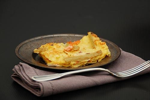 lasagne salmone cardi caprino