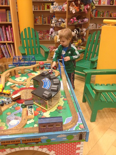 Train table at Barnes & Noble