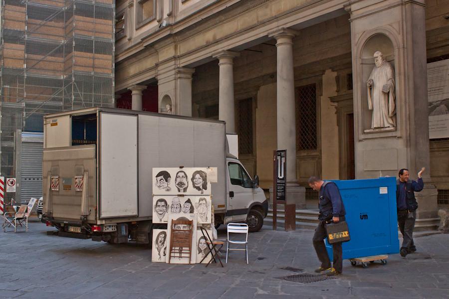 A corridor close to Palazzo Vecchio