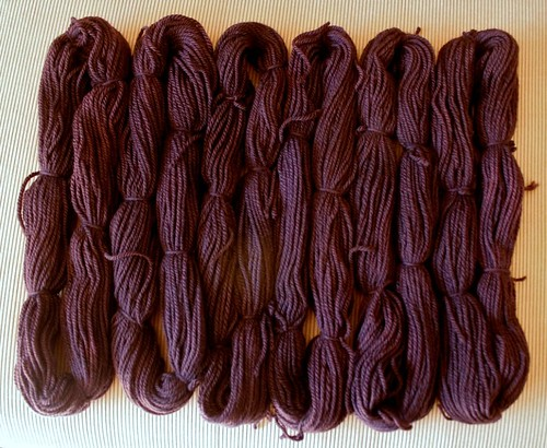 aubergine dyed wool - after