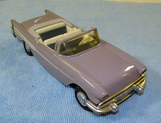 1957 Pontiac Star Chief Convertible Promo Model Car - Sage Blue