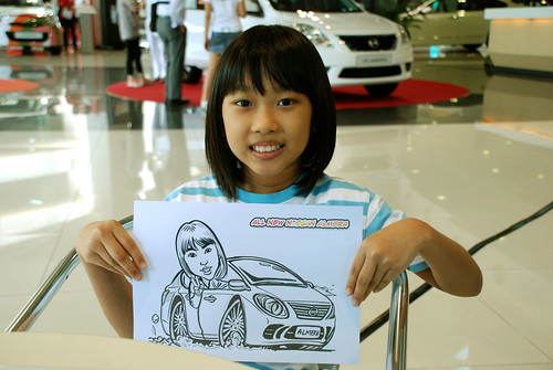 Caricature live sketching for Tan Chong Nissan Motor Almera Soft Launch - Day 3 - 7