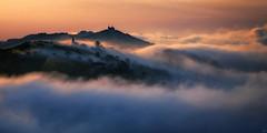 [フリー画像素材] 自然風景, 山, 雲, 朝焼け・夕焼け ID:201207072000