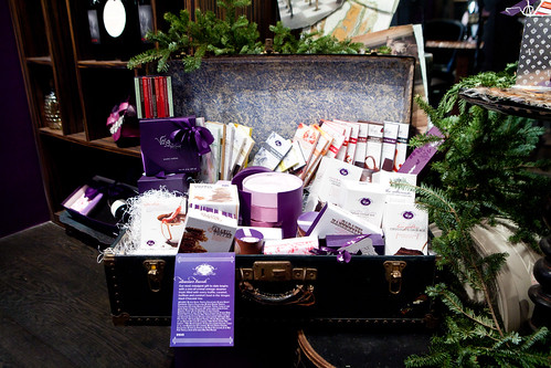 Large trunk full of Vosges' products