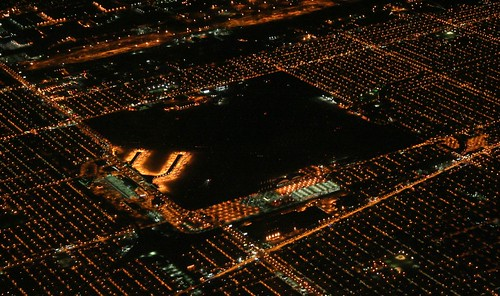 Midway Airport by night
