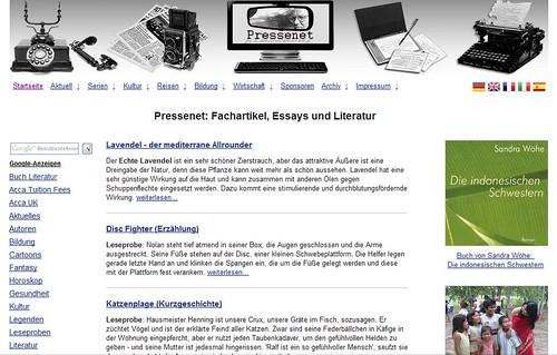 Pressenet: Fachartikel, Essays und Literatur by totemtoeren