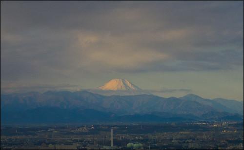 El monte Fuji nos da los buenos diás