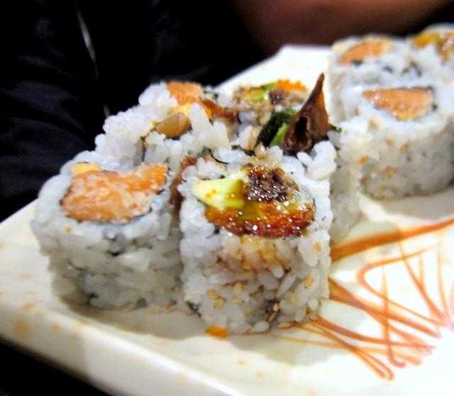 Unagi and Spicy Salmon Maki