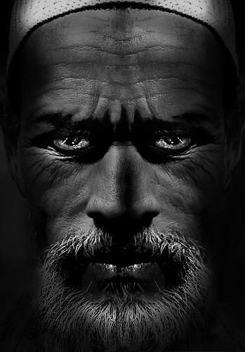 Steely gaze