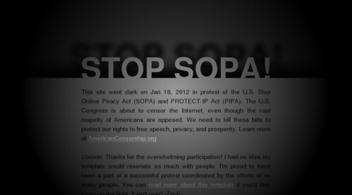 Screenshot of stop-sopa