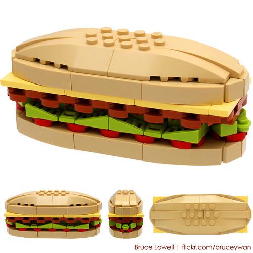 LEGO Sandwich by bruceywan