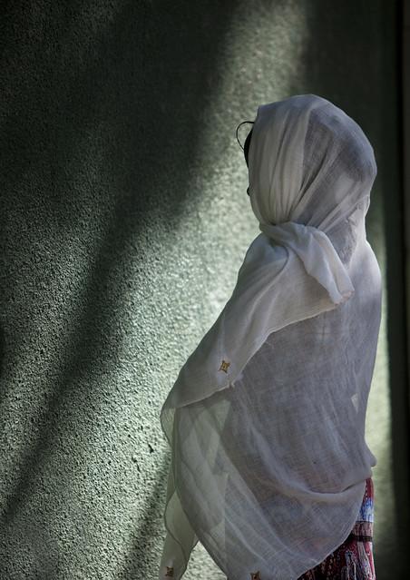 Praying woman in Zway church - Ethiopia