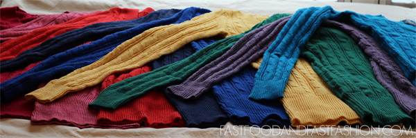 rainbow colors american eagle v neck sweaters