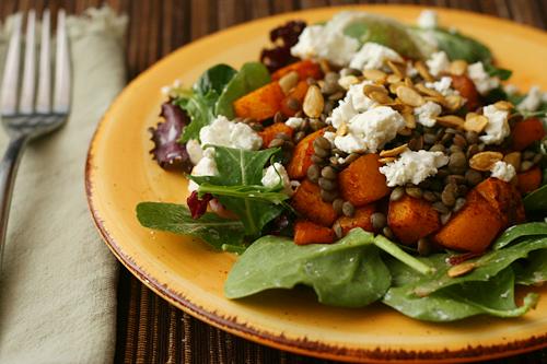 lentil squash salad 4