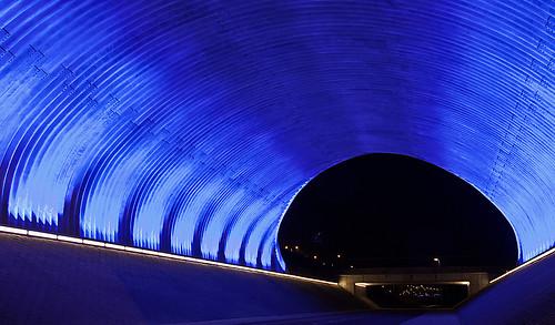 blue light holland netherlands night canon eos lights nacht nederland tunnel fietstunnel nederlandvandaag flickrhivemindgroup