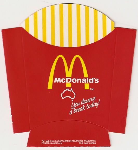 McDonald's Fries Box