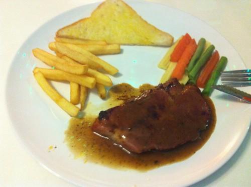 pork steak @ nine