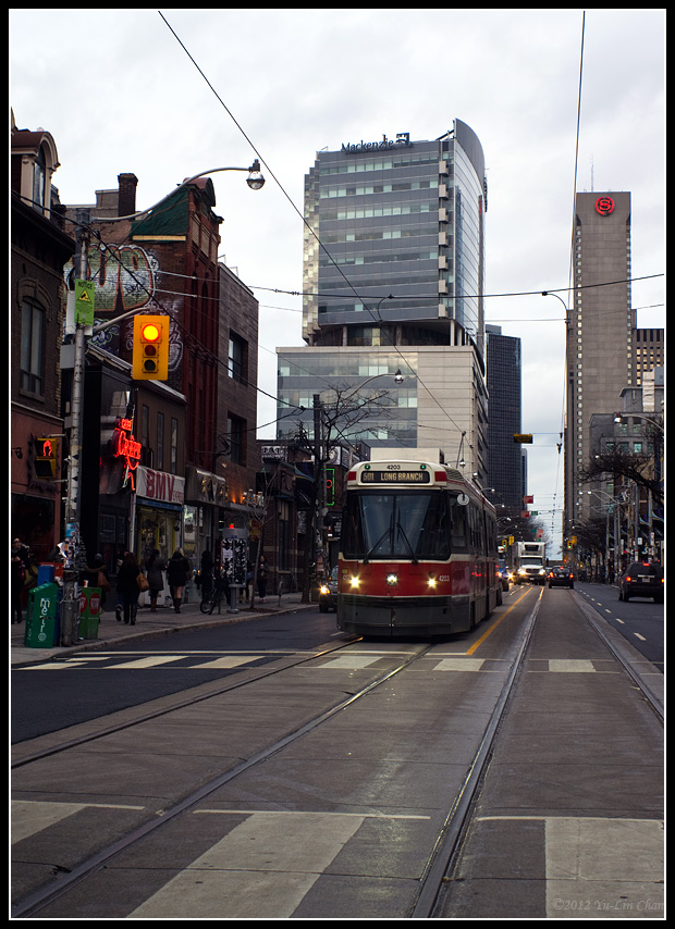 Streetcar on Queen & John Sts.