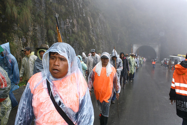 photo of Indigenous march for TIPNIS