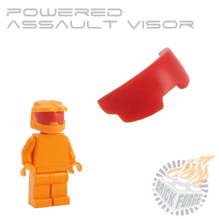 Powered Assault Visor - Red